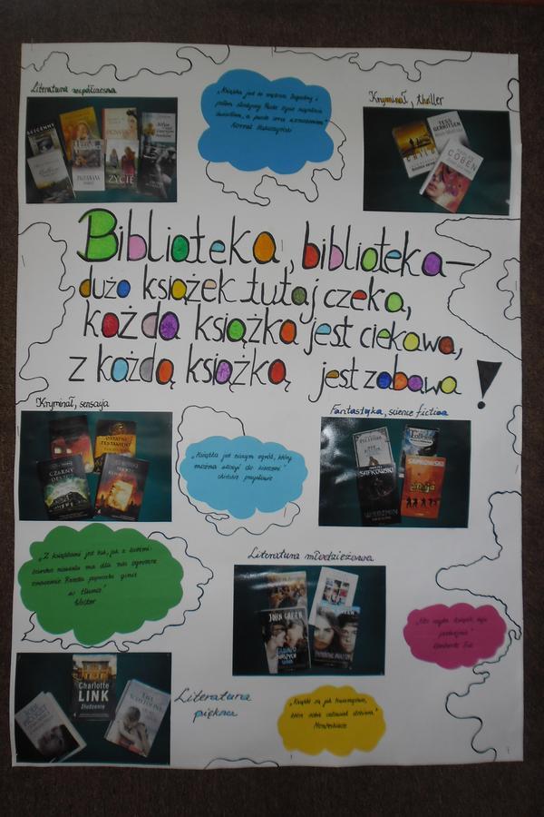 Strona Biblioteki Zespołu Szkół Ponadgimnazjalnych Nr 1 W